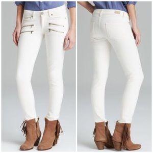 Paige denim edgemont optic white skinny jean 28
